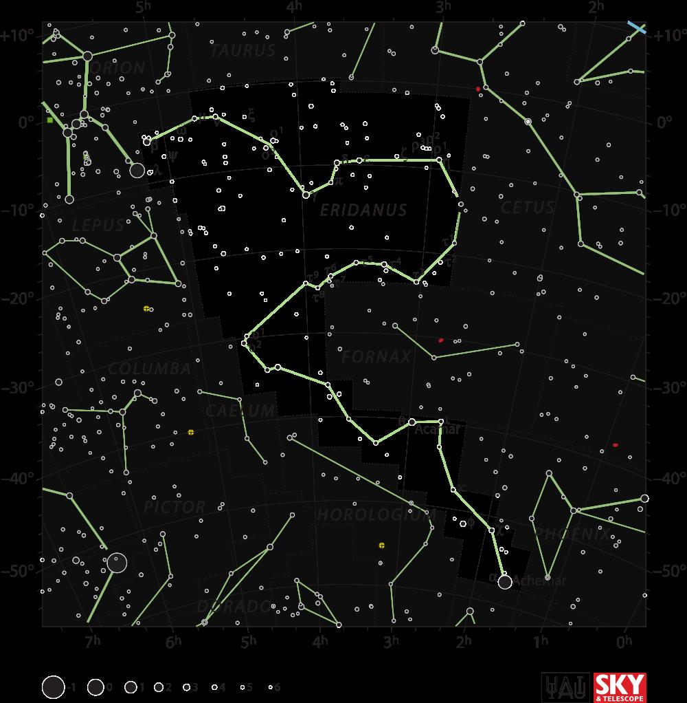 Eridanus   The Constellation Directory