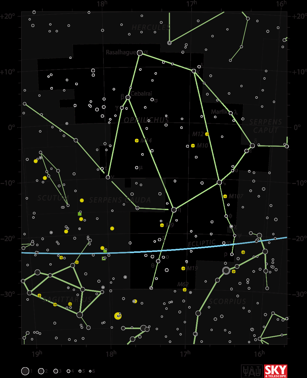 Ophiuchus   The Constellation Directory